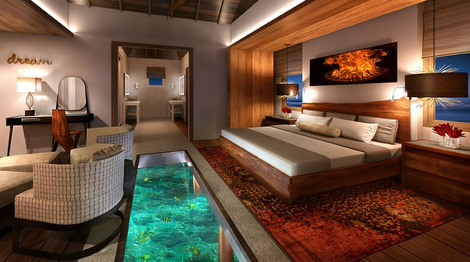 Over-the-water Suites interior